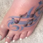 music notes tattoo