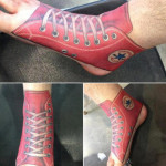 converse foot tattoo