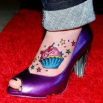 cupcake foot tattoo