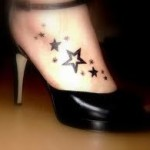 stars on foot tattoo