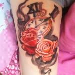 Cute-Clock-Thigh-Tattoo