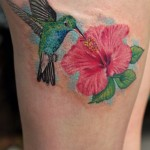 Hummingbird-Tattoo-On-Thigh