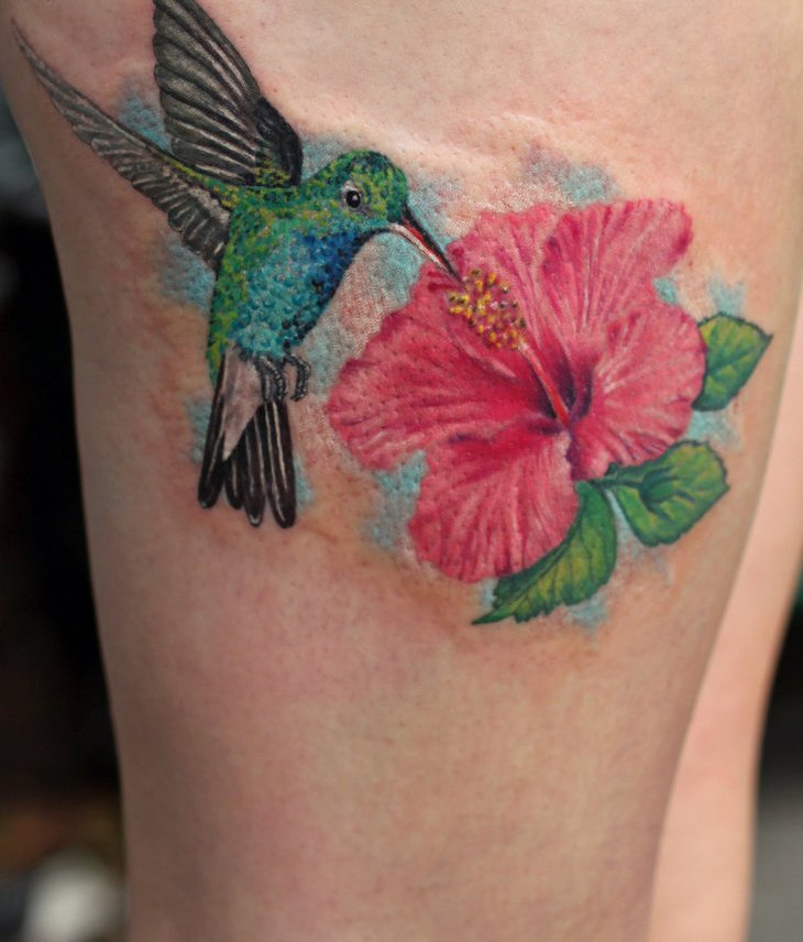 Hummingbird Tattoo On Thigh  Love