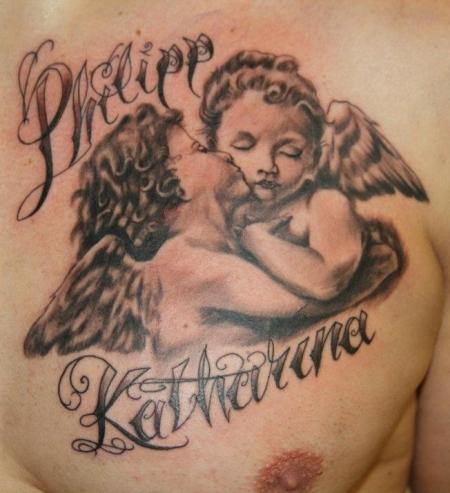 angel tattoos tattoo love. Black Bedroom Furniture Sets. Home Design Ideas