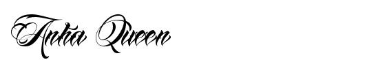 anha-queen-tattoo-font