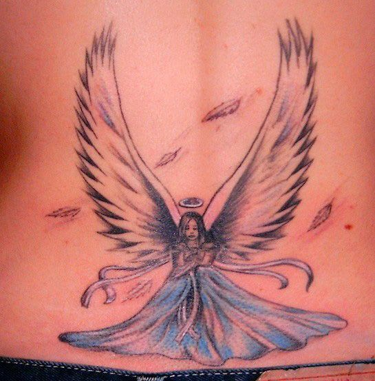 butterfly angel tattoos ideas tattoo love. Black Bedroom Furniture Sets. Home Design Ideas