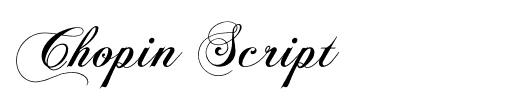 chopin-script-tattoo-font