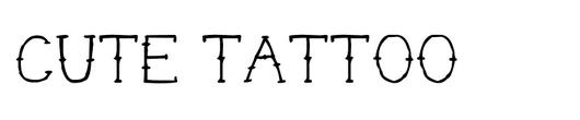 cute-tattoo-font