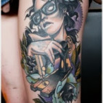 female thigh tattoos designs-725628