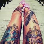 leg thigh tattoos