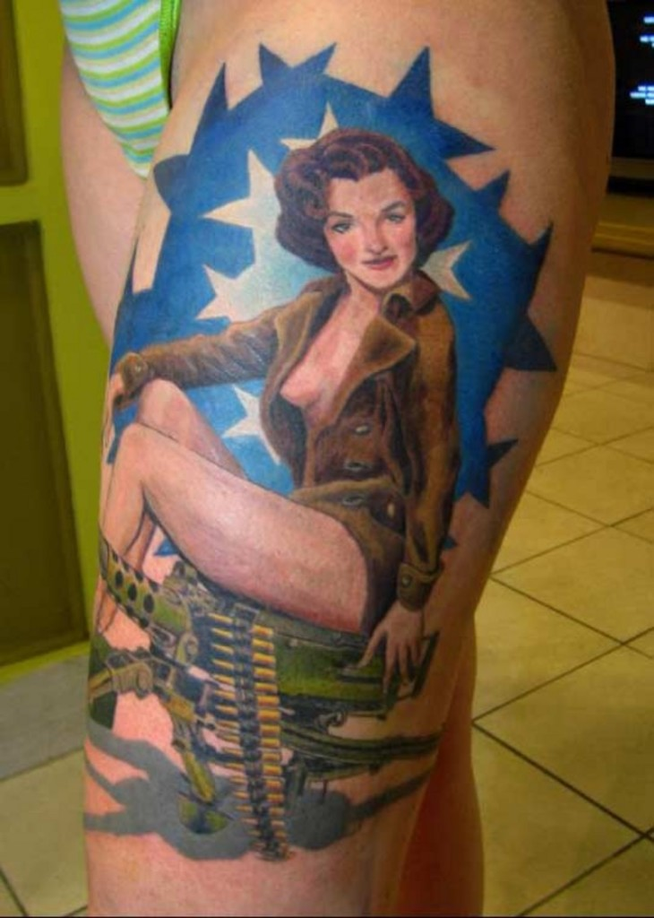 105 Awesome Thigh Tattoos | Tattoo Love