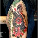 swan-tattoo-designs-on-thigh