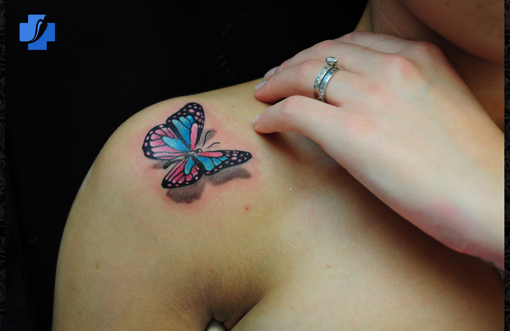 3d Butterfly Tattoos On Shoulder Tattoo Love