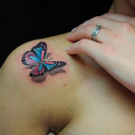3d-butterfly-pictures-on-Shoulder