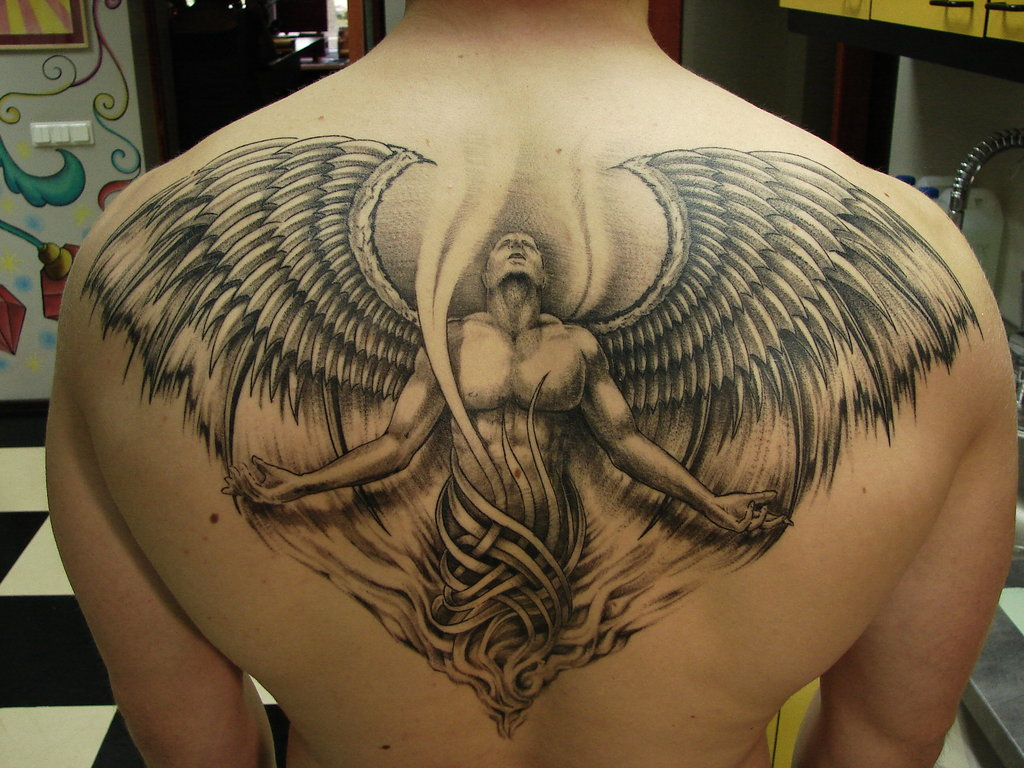 angel wing tattoos for men tattoo love. Black Bedroom Furniture Sets. Home Design Ideas