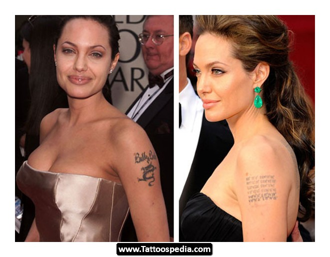 Angelina Jolie Tattoo Removal | Tattoo Love