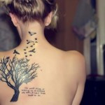 Back-Woman-Tattoo-Lettering-tree-birds