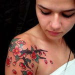 Cherry Blossom Tattoo Designs-Women Love Japanese Tattoos
