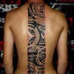Cool-Back-Tribal-Tattoo-for-Men