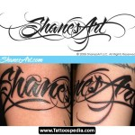 Cool Tattoo Lettering shanes art