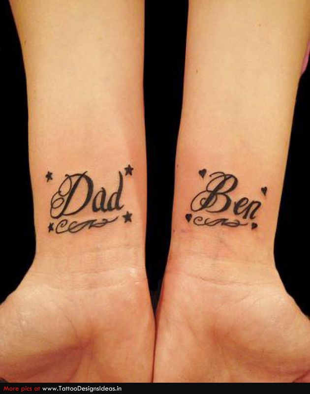 Lettering Tattoos Names On Wrist