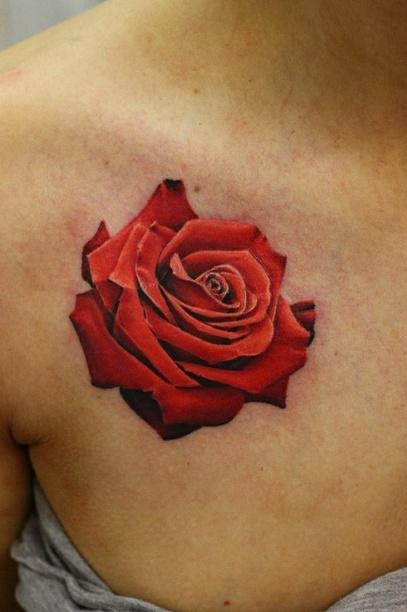 rose tattoos realism tattoo love. Black Bedroom Furniture Sets. Home Design Ideas