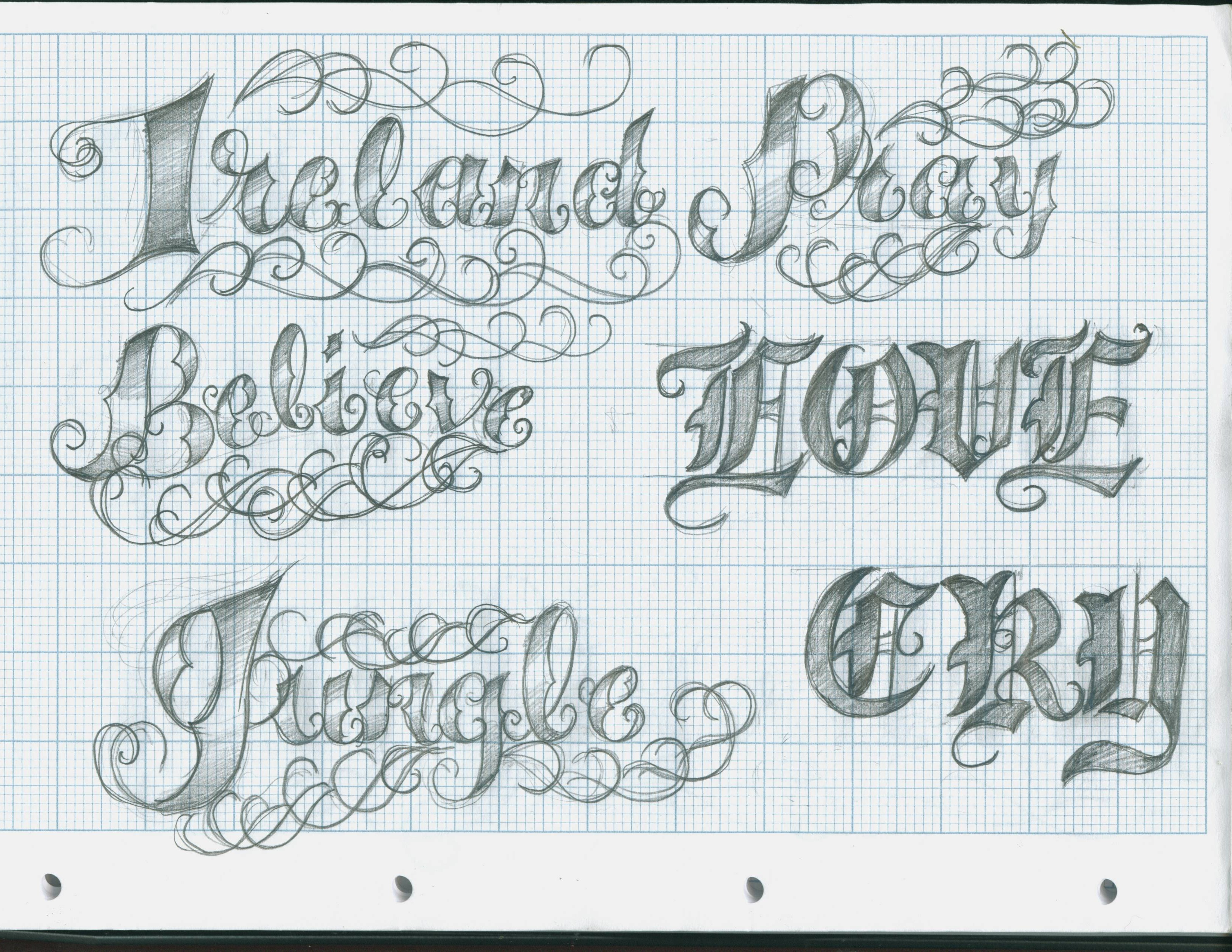 ... 3300 × 2550 in 108 Tattoo Lettering Designs . ← Previous Next