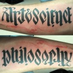 Tattoo Lettering ambigram