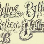 Tattoo-Lettering_Believe_by_12KathyLees12