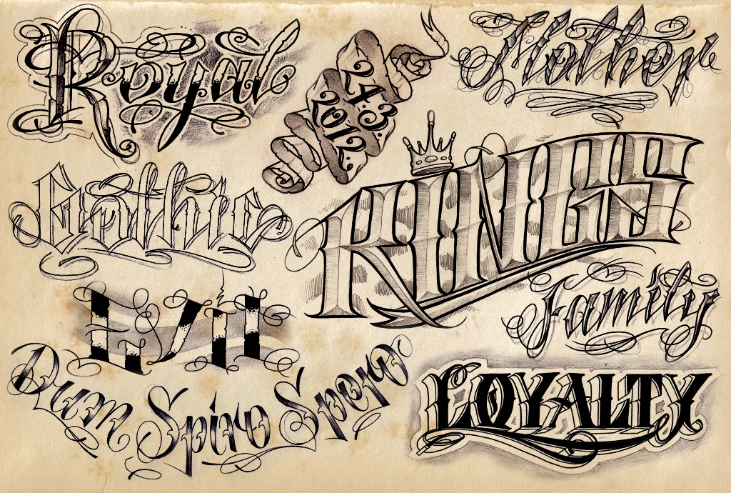 Old School Tattoo Lettering Fonts