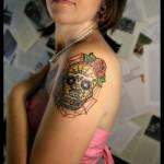 Tattoos-Women-sugar-skull
