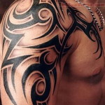 Tribal-Arm-Tattoo-for-Men-shaded