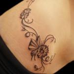 Simple Women Flower Tattoo