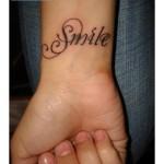 Wrist Tattoos Designs For Women-smile