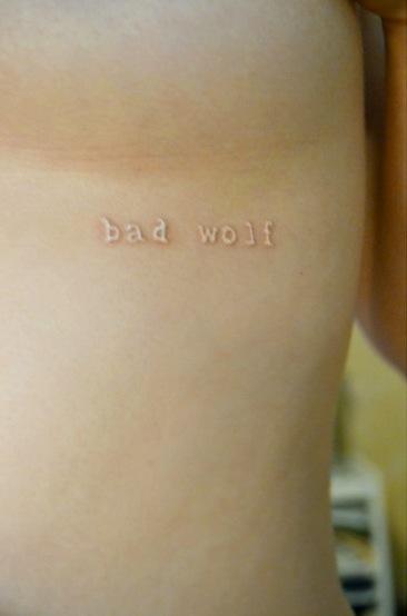 bad-wolf-white-ink-tattoos | Tattoo Love