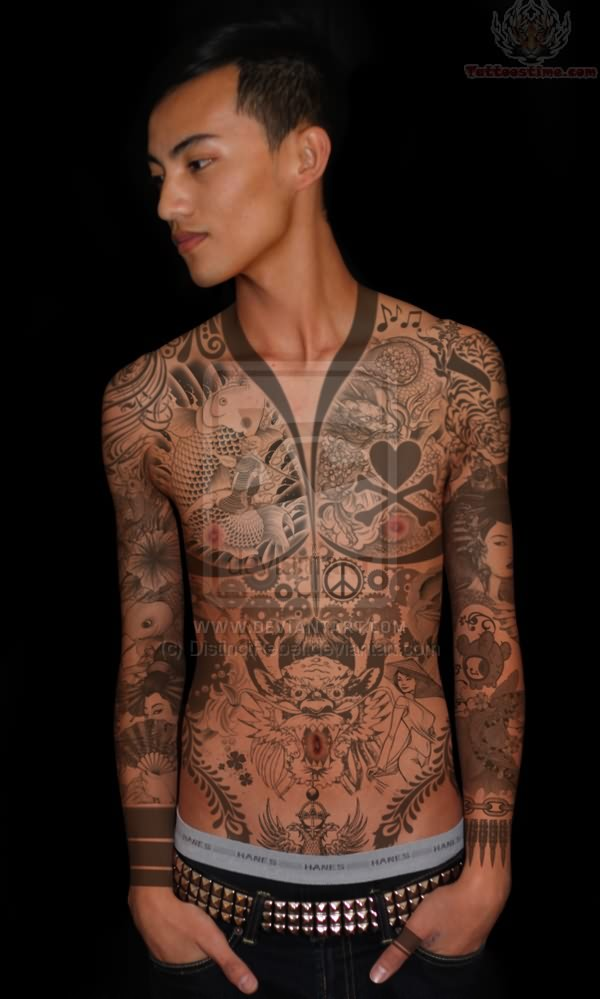 Best japanese tattoos style tattoo love for Japanese style chest tattoos