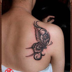 black butterfly tattoo designs for women
