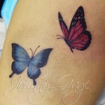 butterflies-on-thigh-tattoo
