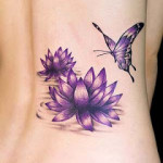butterfly-picture-Designs-lotus-flower