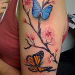 butterfly tattoos blossom