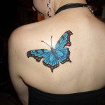 butterfly tattoos-blue