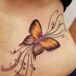 butterfly tattoos-colour