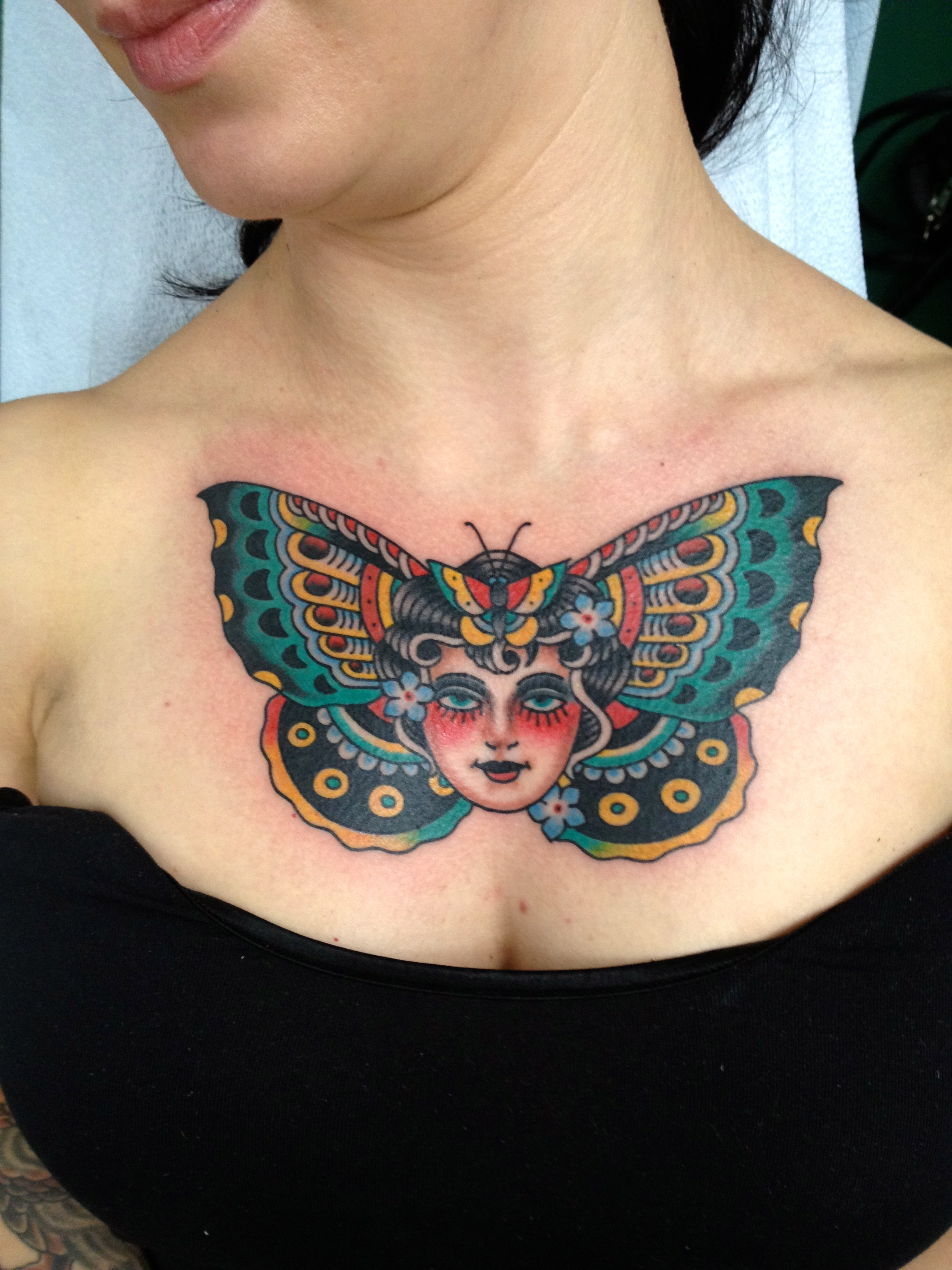 Butterfly Tattoos On Women Chest Tattoo Love