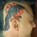 crow-tattoo-on-men-head