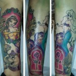 disney tattoos belle beauty and the best beginning of sleeve