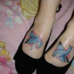 disney tattoos birds on feet