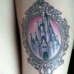 disney tattoos castle in frame