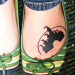 disney tattoos castle on foot