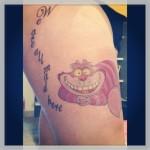 disney tattoos cheshire cat
