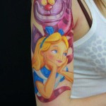 disney tattoos cheshire cat and alice